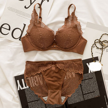 Transparent Lace Bra and Panty Set Women Sexy seamless Lingerie Bra Set Intimates Ladies Wireless Breathable Underwear Set