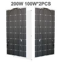 100w 200w flexible 300w monocrystalline solar cell solar panel 12v module for home roof