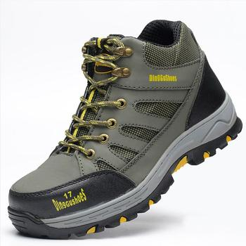 mens fashion large size safety boots platform steel toe caps work boot building site worker security shoes zapatos de seguridad