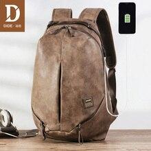 Рюкзак DIDE брызгозащищенный для ноутбука 15 дюймов, Мужской Дорожный ранец с usb разъемом, школьная сумка для подростков