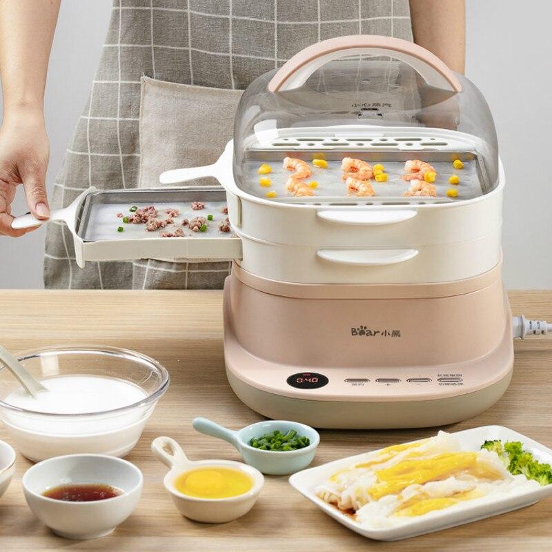 220V Electric Steaming Cooking Machine Drawer Type Intestine Powder Machine White Color Steamed Sausage Steamer EU/AU/UK/US