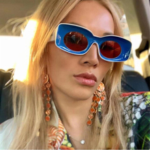 LongKeeper Double Colors Popular Fashion Rectangle Sunglasses