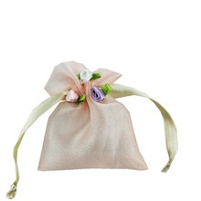 Drawstring Jewelry Pouches Candy Packaging Candy Holder Bags Wedding Party Flower Pattern Sequin Organza Bag