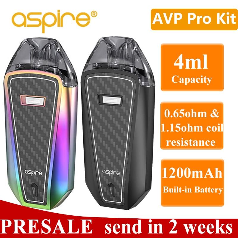 In Stock Aspire AVP Pro Vape Kit 4ml Pod Tank Electronic Cigarette Kit 0.65ohm Mesh/1.15ohm Coil Built-in 120mah Battery Vaper