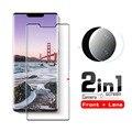 Защитное стекло 2 в 1 для Huawei Mate 30 Pro, Защитная пленка для экрана и объектива камеры, закаленное стекло для Huawei Mate 30 Pro, пленка