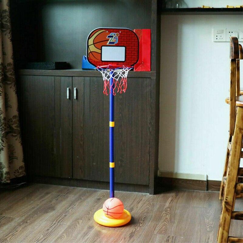 Спортивная игрушка для улицы, детский баскетбольный комплект, регулируемая подставка, держатель для корзины, обруч, гол, игра, мини, для поме...