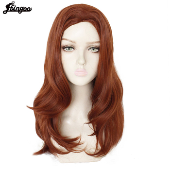 цена на Ebingoo Black Widow Wig Blonde Ombre Red Synthetic Cosplay Wig Long Natural Wave Wig for Women Halloween Costume Party