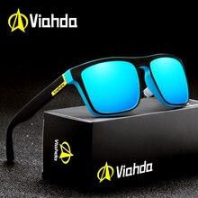 Viahda óculos de sol polarizado para homens, óculos de sol quadrado para homens, alta qualidade, polarizado uv400