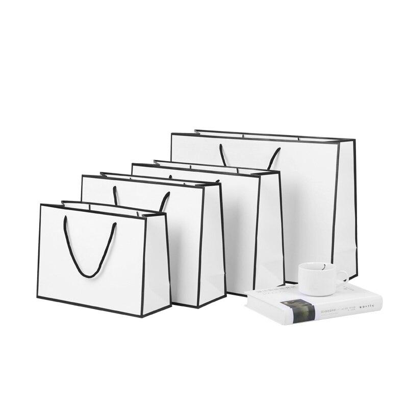 Customizable Logo DIY Kraft Paper Bag Tote Thickening Gift Clothing Store Paper Bag Gift Bag Wedding Engagement Bag