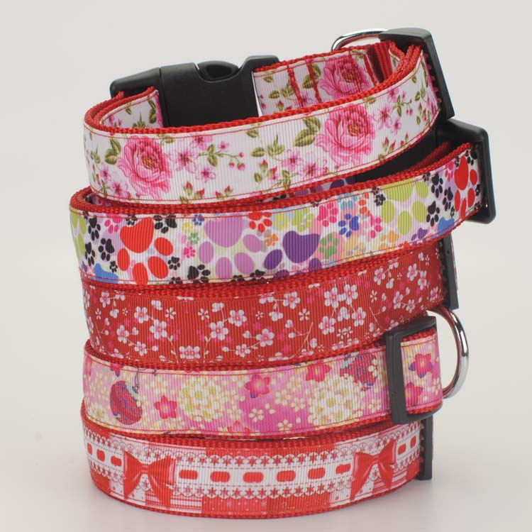 Cool Printing Style Medium-sized Dog Large Dog Thick Soft Nylon-Contraction Dog Neck Ring Pet Supplies
