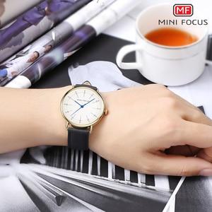 Image 5 - Montres à Quartz hommes 2020 imperméable marque de luxe homme montre classique robe mode décontracté bracelet en cuir véritable MINI FOCUS