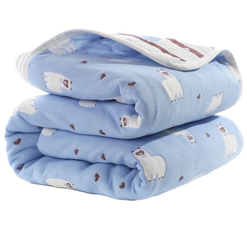 Baby Blankets Swaddle Bedding Newborn Muslin Cotton 6 Layers Swaddle Wraps Children Gauze Receiving Blankets Kids Cover Bedding