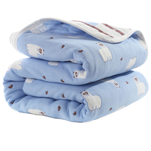 Baby Blankets Swaddle Bedding Newborn Muslin Cotton 6 Layers Swaddle