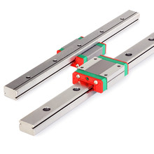 Gratis Pengiriman MGN7 MGN12 15 MGN9 300 400 500 600 Mm Miniatur Linear Rail Slide 1cnc Linear Guide + 1 linear Bearing Kereta(China)