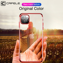 Cafele Original Plating Phone Case For iPhone 11 Pro Max Transparent Silicone Gradient Soft TPU Case Cover For iPhone 11 Pro Max
