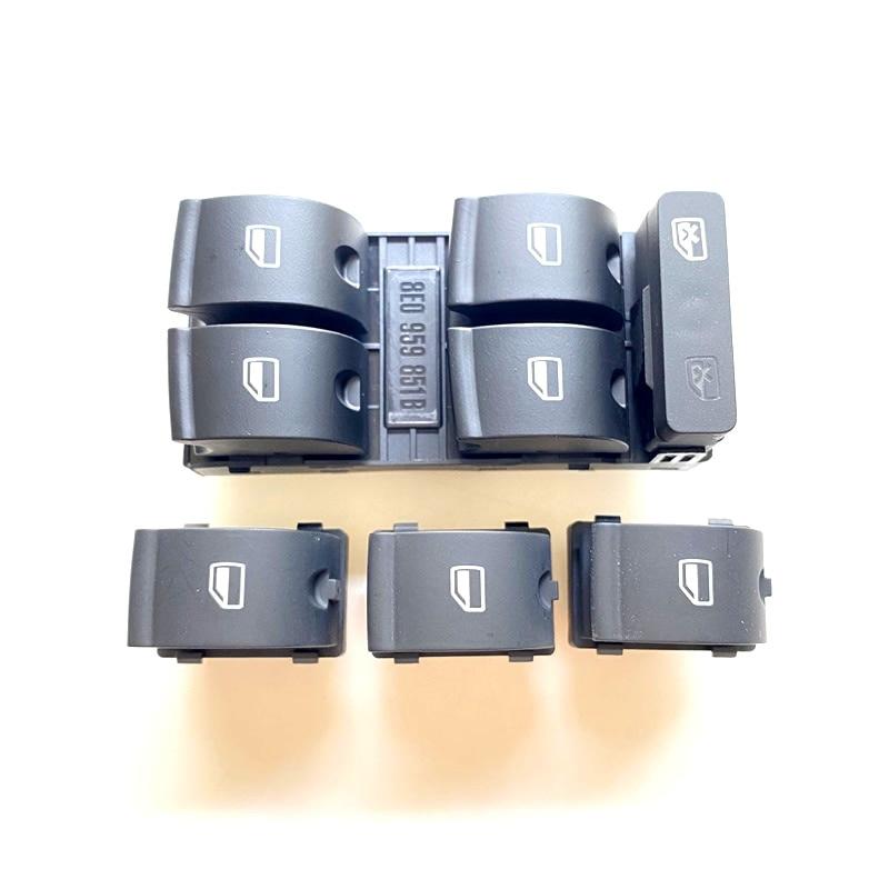 8E0959851B interruptor de ventana principal eléctrico de alta calidad, botón para AUDI A4 S4 B6 31-b7 SEAT Exeo 8E0959851 8E0959855