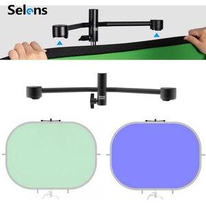 Image 2 - Selens 150x200cm 2 em 1 pano de fundo + refletor magnético suporte estúdio tela fotografia fundo para youtube vídeo studio