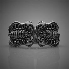Nuevo diseño de wubalo anillo de boda de escorpión de Color dorado negro para hombre Punk Vintage Cool hombre joyería regalos