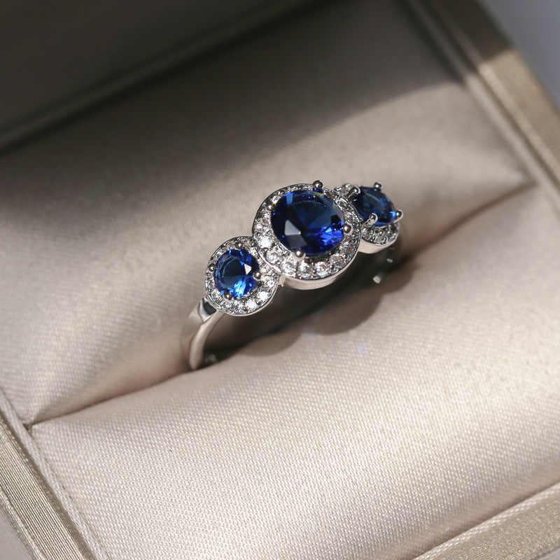 Luxe Ovale Blanc Saphir Argent 925 promesse Anneau Mariage Bijoux Cadeau Taille 6-10