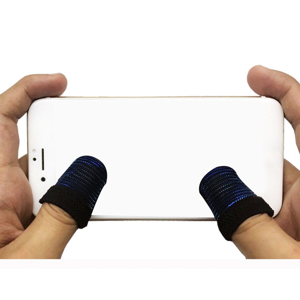 1 Pair Fingertip Sweatproof cover pubg touch screen for mobile phone Breathable Finger Cots For Game BUBG Gamepad Controller image