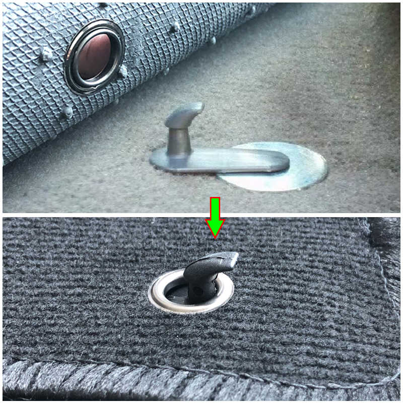 10x clipes da esteira do assoalho do carro ganchos de fixação do tapete fixadores fixadores retenção para toyota corolla camry highlander yaris retentor