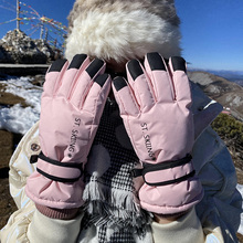 Winter Waterproof Ski Gloves Women Outdoor Warm Cold Proof Gloves Touch Screen Guantes Invierno Winter Sports Accessories EF50ST