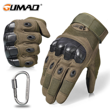 Outdoor Touch Screen Military Tactical Gloves Army Hard Knuckle Sport Hiking Hunting Airsoft Cycling Shooting Full Finger Glove cheap GUMAO Nylon Cotton Synthetic Leather Microfiber Solid Wrist Unisex Novelty