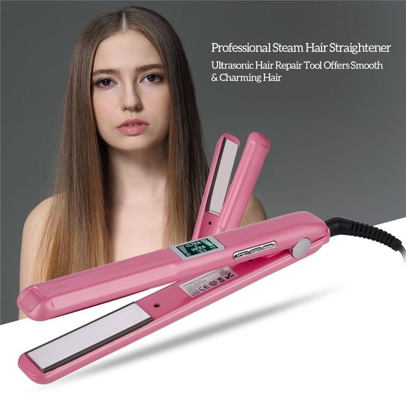 Уход за волосами ультразвуковой инфракрасный выпрямитель для волос профессиональный холодный плоский Железный Выпрямитель для волос терапевтические инструменты для ухода за волосами|Утюжки для выпрямления|   | АлиЭкспресс