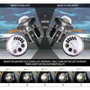 """Image 3 - مصباح أمامي LED قابل للتكيف مع دراجة نارية Harley ، 7 """"، لسيارات BMW R NineT R9T ، H4 ، 7 بوصة"""