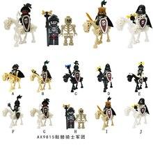 Средневековый замок, рыцари, фигурки, крестовики, римский солдат, Спартак, воин, гладиаус, скелет, лошадь, щит, строительные блоки, игрушки