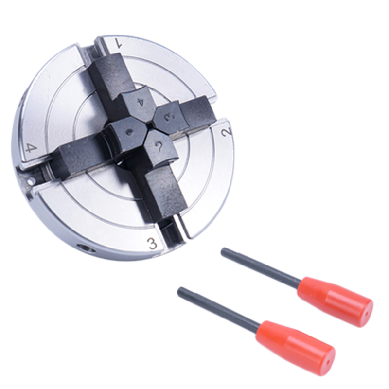 4 Inch Lathe Chuck 100mm 4-Jaw Self Centering Chuck Wood Turning Chuck Mini Lathe Woodworking Chucks Machine Tool Accessories