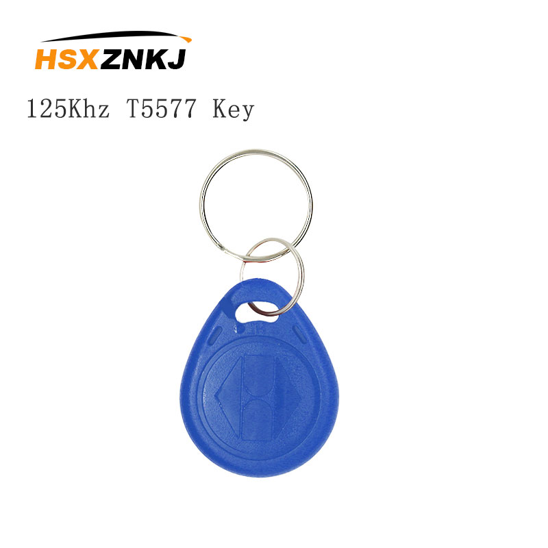 5/10PCS Color Random RFID 125KHZ Keychain Can Be Copied And Rewritten T5577 EM4305 Access Control Tag Keychain