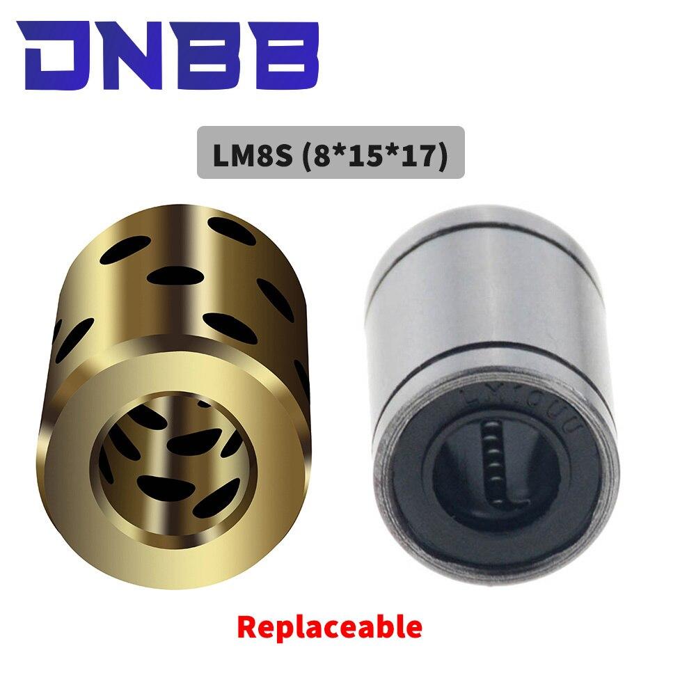4pcs 8x15x17 mm LM8 high quality linear graphite copper set bearing copper bushing oil self-lubricating bearing JDB  LM8SUU 8mm