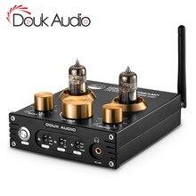 Douk オーディオハイファイの Bluetooth 5.0 チューブ真空プリアンプ USB DAC APTX ホームステレオオーディオプリアンプヘッドフォンアンプ