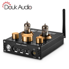Douk audio HiFi Bluetooth 5.0 Tube Vacuum Preamplifier USB DAC APTX Home Stereo Audio Preamp Headphone Amp