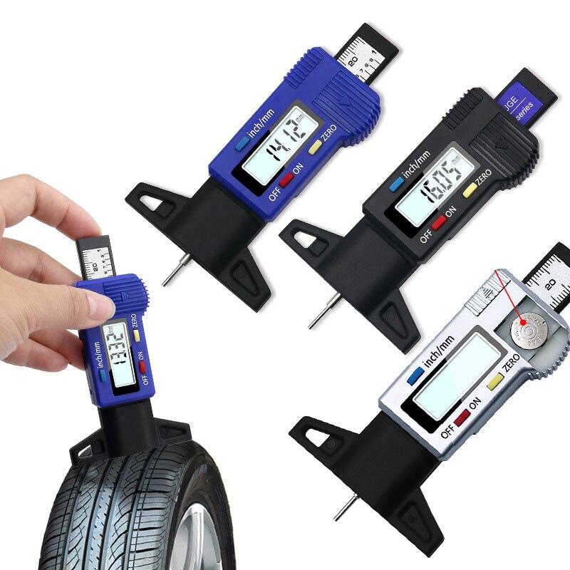 Цифровой микрометр для авто, измеритель глубины протектора с ЖК-дисплеем, 0,01 мм, 0-25 мм