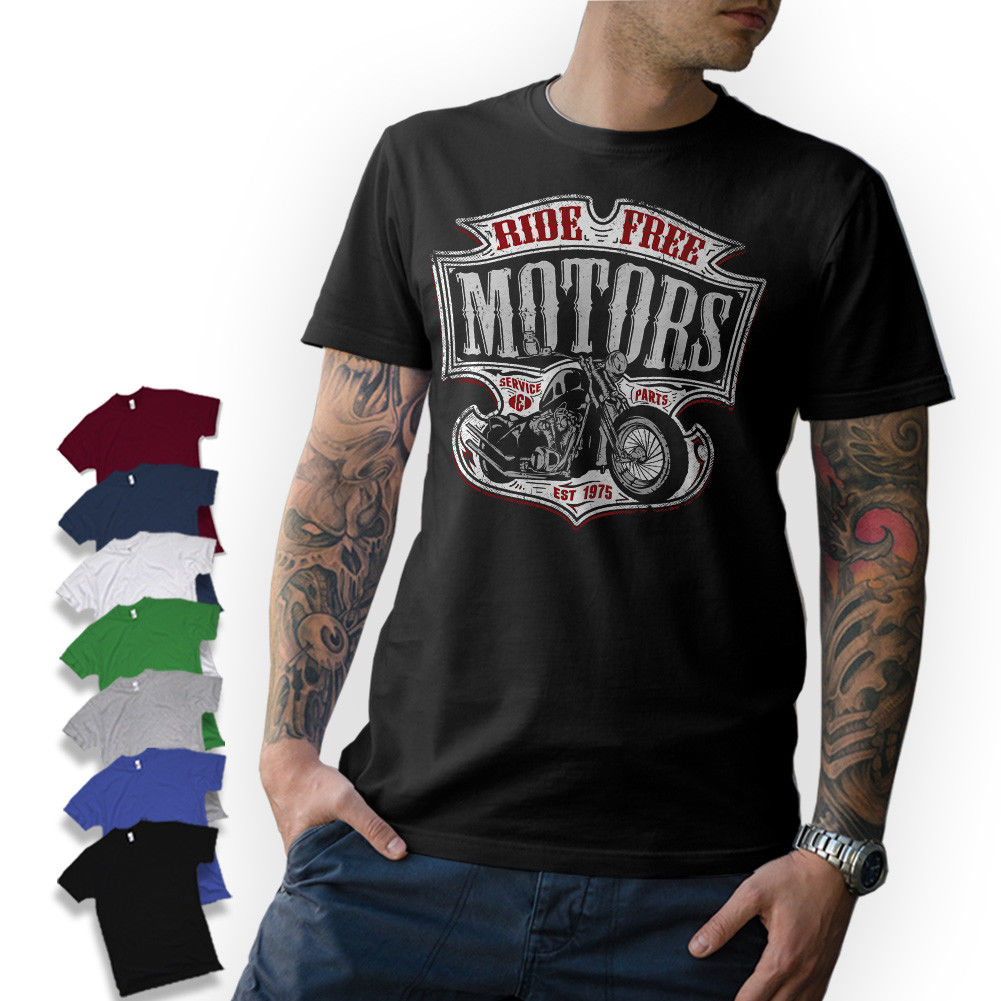 2018 Summer Tee <font><b>Shirt</b></font> <font><b>T</b></font> <font><b>Shirt</b></font> Motard Moto Moto Chopper Bobber Oldschool <font><b>Mc</b></font> Visseur Custom <font><b>T</b></font> <font><b>Shirt</b></font> 016156 image