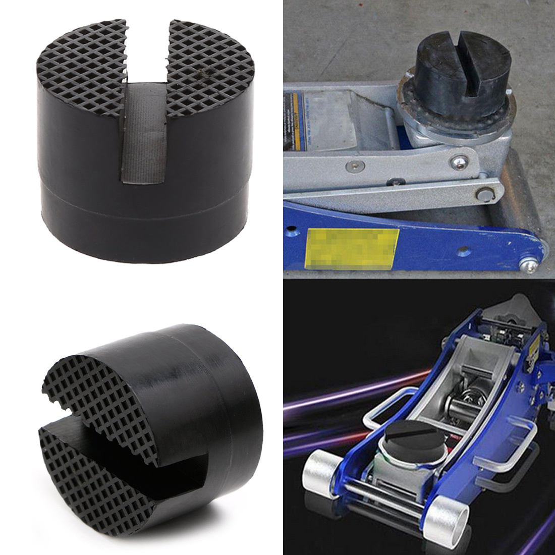 Automobile Universal Bracket Rubber Pad, Jack Support Rubber Block Tool And Floor Groove Rubber Pad