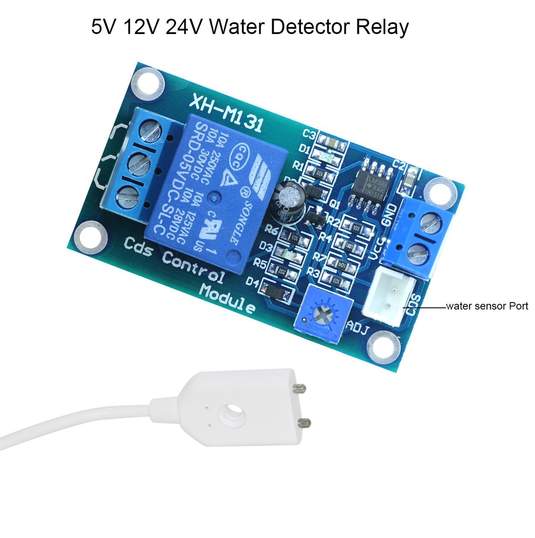 5V 12V Water Detector Relay Module Water Leakage Leak Water level Sensor Water Leakage Alarm Automatic Switching water pump