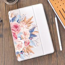 Flower Leaves Luxury Case For iPad AIr 4 Air 2 Mini 5 4 Case Luxury Clear Silicone For iPad Pro 11 Case 2020 iPad 10.2 7th 8th