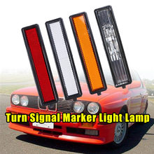 Placa de folha traseira esquerda direita lado turno sinal marcador luz da lâmpada lente acessórios do carro apto para bmw e30 e32 e34 318i 318is 325es 325i