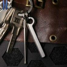 Mini Titanium Small Ruler Keychain Portable Ruler EDC Measuring Tool Centimeter Inch