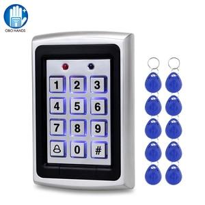 Image 1 - OBO panneau de contrôle daccès Rfid en métal, 10 pièces, clavier pour système de contrôle daccès RFID WG26, rétroéclairage