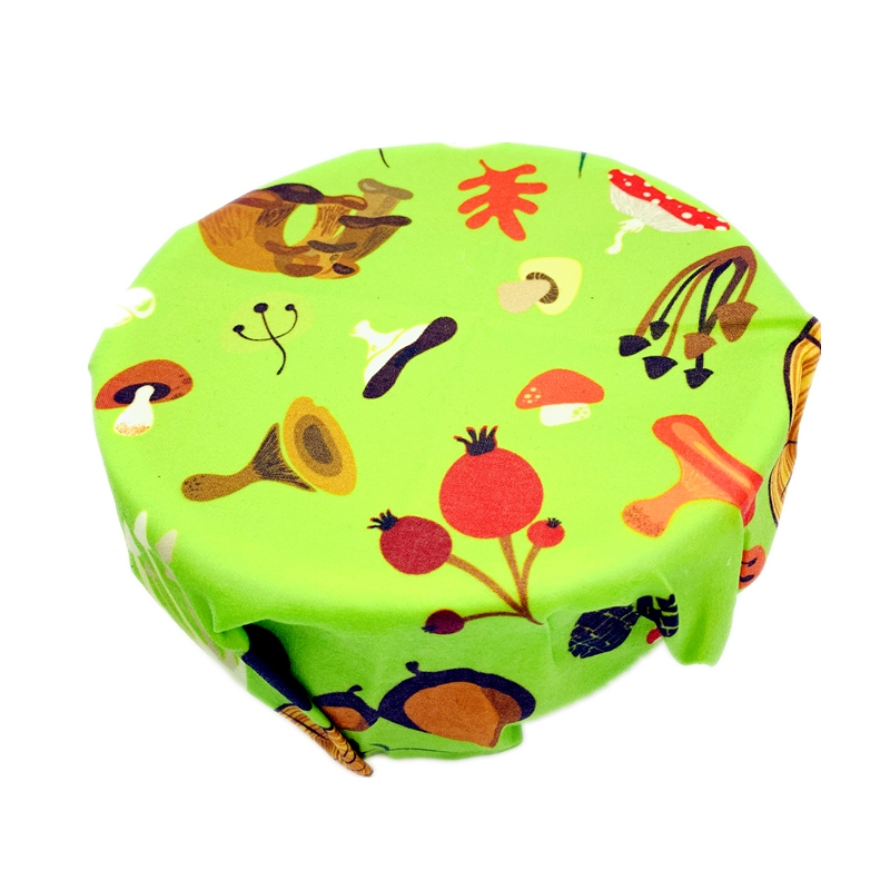 Reusable Beeswax Food Wraps Washable Food Storage Bags Organic Beeswax Cloth Wrap Silicone Food Wrap Replacement