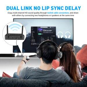 Image 5 - EKSA ET04 3 en 1 Bluetooth 5.0 récepteur émetteur Audio CSR8675 adaptateur Bluetooth optique/3.5mm AUX/SPDIF pour casque TV