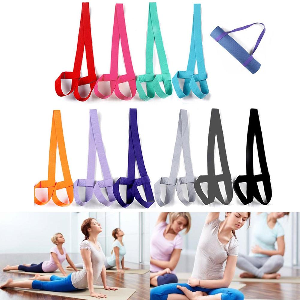 Adjustable Yoga Mat Strap Mat Sling Carrier Shoulder Belt Exercise Sports Gym Fitness Yoga Mats Strap 7 Color Elastic Yoga Belt