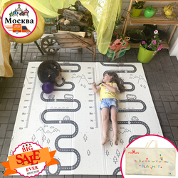 Miamumi детский коврик, игровой коврик, пазл, 200х180см, 78х70ин, термоковрик складной, термоковрик для ползания, коврик из пены, развивающий коврик д...