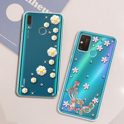 Capa Mole Caso de Telefone Bling Para Huawei Honor 9A 7A 6A 5A Caso Tpu Honra 30 20 10 9 8 10X 9X Lite Pro 10i 30I 30S 20E 20S Cobertura