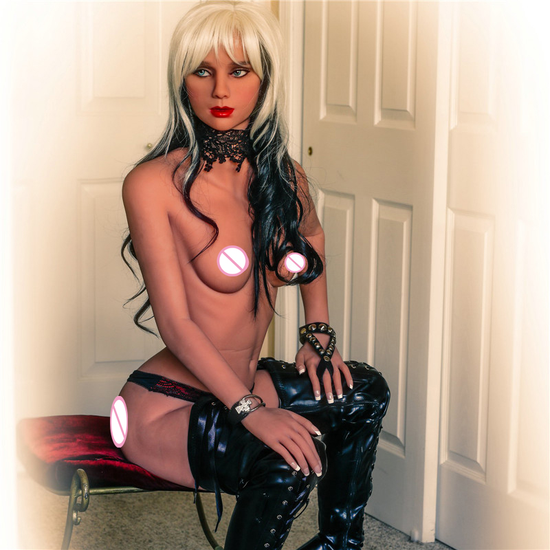 <font><b>155cm</b></font> <font><b>Sex</b></font> <font><b>Doll</b></font> Flat Chest Small Breast Lifelike Full TPE with Metal Skeleton Real Silicone <font><b>Sex</b></font> <font><b>Doll</b></font> For Men Masturbator Toys image