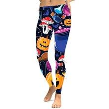New Leggins Halloween Pumpkin Leggings For Women Print Fantastic Workout Party Ankle Pant